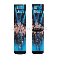 Justice League Dance Boyband Custom Sublimation Printed Socks Polyester Acrylic Nylon Spandex with Small Medium Large Size