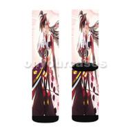 Katanagatari Custom Sublimation Printed Socks Polyester Acrylic Nylon Spandex with Small Medium Large Size