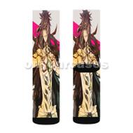 Magi Sinbad Custom Sublimation Printed Socks Polyester Acrylic Nylon Spandex with Small Medium Large Size
