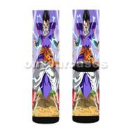 Mystic Gohan Dragon Ball Z Custom Sublimation Printed Socks Polyester Acrylic Nylon Spandex with Small Medium Large Size
