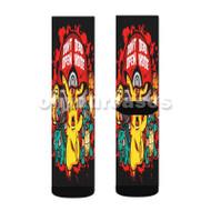 Pikachu Don t Open Inside Custom Sublimation Printed Socks Polyester Acrylic Nylon Spandex with Small Medium Large Size