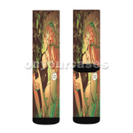 Poison Ivy and Batman Custom Sublimation Printed Socks Polyester Acrylic Nylon Spandex with Small Medium Large Size