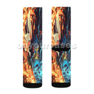 Pokk n Tournament Custom Sublimation Printed Socks Polyester Acrylic Nylon Spandex with Small Medium Large Size