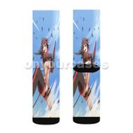 Ryuuko Kill La Kill Custom Sublimation Printed Socks Polyester Acrylic Nylon Spandex with Small Medium Large Size