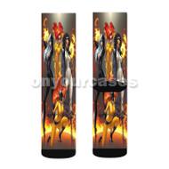 Sexy Marvel Villains Custom Sublimation Printed Socks Polyester Acrylic Nylon Spandex with Small Medium Large Size