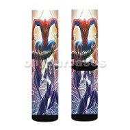Spiderman Characters Custom Sublimation Printed Socks Polyester Acrylic Nylon Spandex with Small Medium Large Size