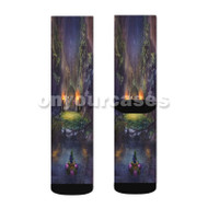 The Legend of Zelda Majoras Mask Custom Sublimation Printed Socks Polyester Acrylic Nylon Spandex with Small Medium Large Size