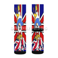 The Who Simpsons Custom Sublimation Printed Socks Polyester Acrylic Nylon Spandex with Small Medium Large Size