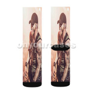 Brantley Gibert Custom Sublimation Printed Socks Polyester Acrylic Nylon Spandex with Small Medium Large Size