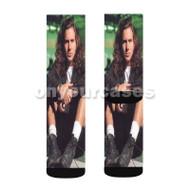 Eddie Vedder Custom Sublimation Printed Socks Polyester Acrylic Nylon Spandex with Small Medium Large Size