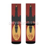 Firefly Silhouette Joss Whedon Custom Sublimation Printed Socks Polyester Acrylic Nylon Spandex with Small Medium Large Size