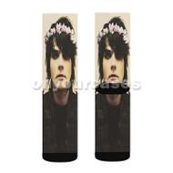 Gerard Way Custom Sublimation Printed Socks Polyester Acrylic Nylon Spandex with Small Medium Large Size