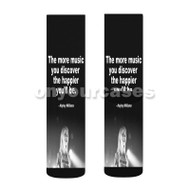 Hayley Williams Quotes Custom Sublimation Printed Socks Polyester Acrylic Nylon Spandex with Small Medium Large Size