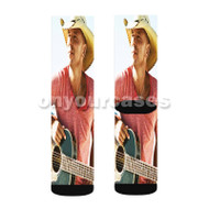 Kenny Chesney Guitar Custom Sublimation Printed Socks Polyester Acrylic Nylon Spandex with Small Medium Large Size