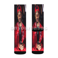 21 Savage Rapper Custom Sublimation Printed Socks Polyester Acrylic Nylon Spandex with Small Medium Large Size