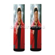 Amazing Johnathan Custom Sublimation Printed Socks Polyester Acrylic Nylon Spandex with Small Medium Large Size