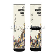 And The Anonymous Nobody Custom Sublimation Printed Socks Polyester Acrylic Nylon Spandex with Small Medium Large Size