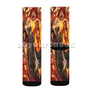 Berserk Anime Custom Sublimation Printed Socks Polyester Acrylic Nylon Spandex with Small Medium Large Size