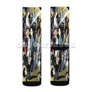 Durarara Custom Sublimation Printed Socks Polyester Acrylic Nylon Spandex with Small Medium Large Size