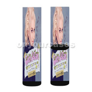 Gwen Stefani This Is What the Truth Feels Like with Eve Custom Sublimation Printed Socks Polyester Acrylic Nylon Spandex with Small Medium Large Size
