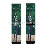 J Cole 2014 Forest Hills Drive Custom Sublimation Printed Socks Polyester Acrylic Nylon Spandex with Small Medium Large Size