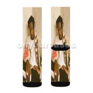 Joey Badass Custom Sublimation Printed Socks Polyester Acrylic Nylon Spandex with Small Medium Large Size