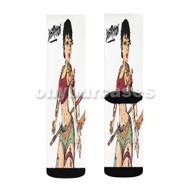 Kehlani Tsunami Distraction Custom Sublimation Printed Socks Polyester Acrylic Nylon Spandex with Small Medium Large Size