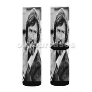 Kris Kristofferson Custom Sublimation Printed Socks Polyester Acrylic Nylon Spandex with Small Medium Large Size