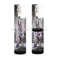Michelle Waterson UFC Custom Sublimation Printed Socks Polyester Acrylic Nylon Spandex with Small Medium Large Size