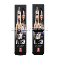 Paige Van Zant vs Michelle Waterson UFC Custom Sublimation Printed Socks Polyester Acrylic Nylon Spandex with Small Medium Large Size