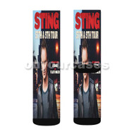 Sting 25th 9th Tour Custom Sublimation Printed Socks Polyester Acrylic Nylon Spandex with Small Medium Large Size