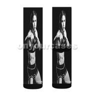 Tecia Torres UFC Custom Sublimation Printed Socks Polyester Acrylic Nylon Spandex with Small Medium Large Size