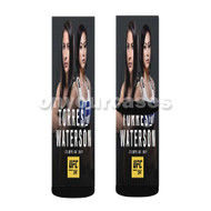 Tecia Torres vs Michelle Waterson UFC Custom Sublimation Printed Socks Polyester Acrylic Nylon Spandex with Small Medium Large Size