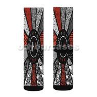 Twenty One Pilots Pattern Flag Custom Sublimation Printed Socks Polyester Acrylic Nylon Spandex with Small Medium Large Size
