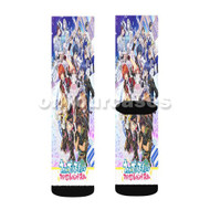 Utano Princesama Legend Star Custom Sublimation Printed Socks Polyester Acrylic Nylon Spandex with Small Medium Large Size