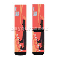 Wiz Khalifa Bammer Custom Sublimation Printed Socks Polyester Acrylic Nylon Spandex with Small Medium Large Size