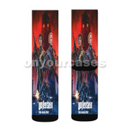 Wolfenstein Youngblood Custom Sublimation Printed Socks Polyester Acrylic Nylon Spandex with Small Medium Large Size