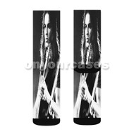 Young David Gilmour Custom Sublimation Printed Socks Polyester Acrylic Nylon Spandex with Small Medium Large Size
