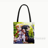 Asuna and Kirito Sword Art Online Custom Personalized Tote Bag Polyester with Small Medium Large Size