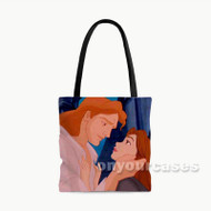 Beauty and The Beast Kiss Love Disney Custom Personalized Tote Bag Polyester with Small Medium Large Size