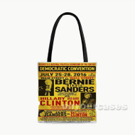 Bernie Sanders vs Hillary Clinton Custom Personalized Tote Bag Polyester with Small Medium Large Size