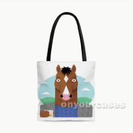 Bo Jack Horseman Drink Custom Personalized Tote Bag Polyester with Small Medium Large Size