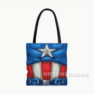 Captain America Body Custom Personalized Tote Bag Polyester with Small Medium Large Size