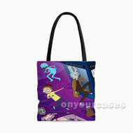 Dr Who Rick and Morty Custom Personalized Tote Bag Polyester with Small Medium Large Size