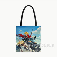 Edward Elric Alphonse Elric Winry Rockbell Fullmetal Alchemist B Custom Personalized Tote Bag Polyester with Small Medium Large Size