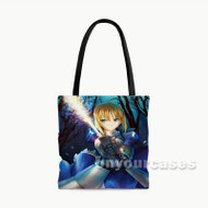 Fate Zero Saber Custom Personalized Tote Bag Polyester with Small Medium Large Size