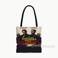 G Eazy and Logic The Endless Summer Tour Custom Personalized Tote Bag Polyester with Small Medium Large Size