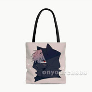 Kaneki Ken Nakigitsune Mask Tokyo Ghoul Custom Personalized Tote Bag Polyester with Small Medium Large Size
