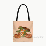 Pizza Michelangelo TMNT Custom Personalized Tote Bag Polyester with Small Medium Large Size
