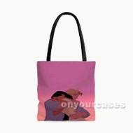 Pocahontas John Smith Disney Custom Personalized Tote Bag Polyester with Small Medium Large Size